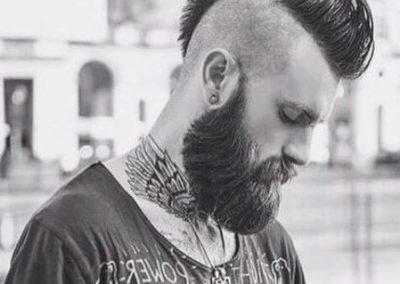 corte de pelo hombre Mohawk