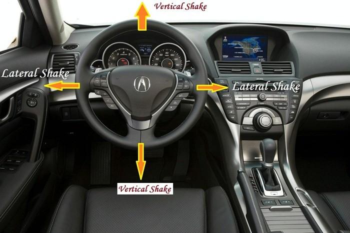 Vehicle Shake - Steering wheel shake - Vibration in steering wheel - Vertical shake - Lateral shake