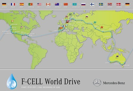 01-Mercedes benz-F-Cell-WorldDrive-around the world in 125 days-four continents-14 countries