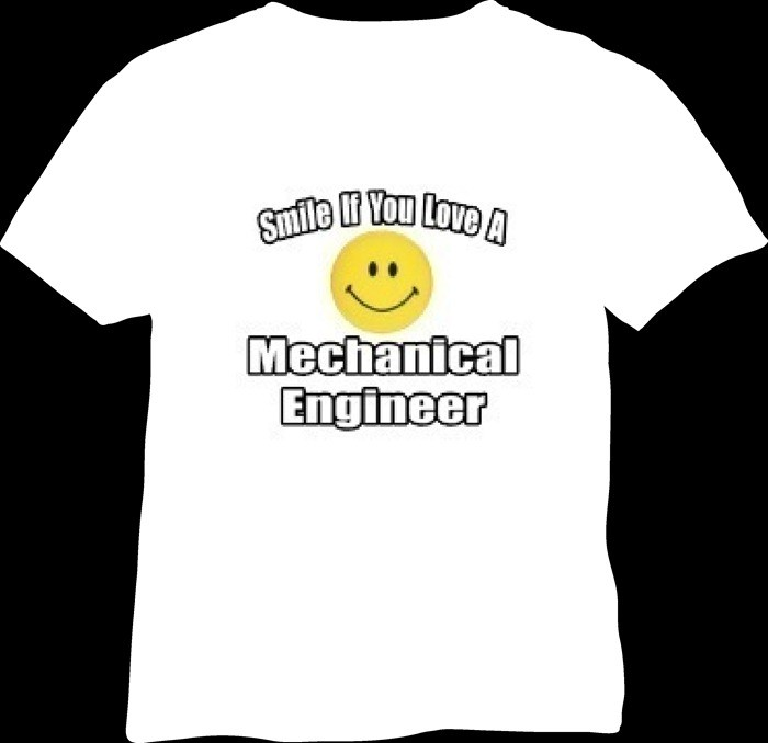 01-funky quotes on life-smile mechanical engineer tshirt