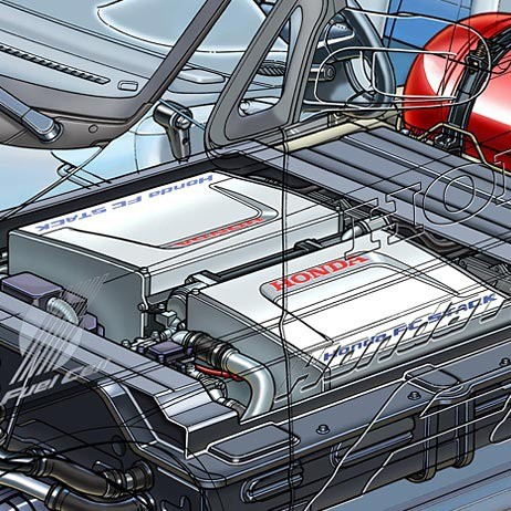 01-fuel cell car-stacks