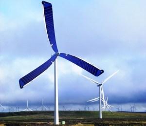 Solar Powered Wind Turbine | Solar Wind Power Projects | A New Wind Turbine Design |  A New Set Of Spinning Solar Blades