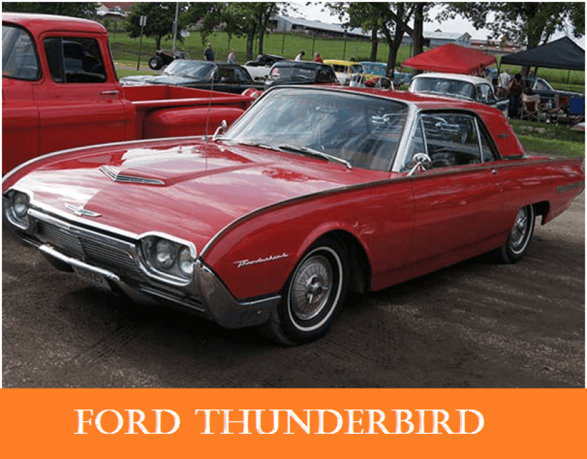01 1960s vintage personal cars ford thunderbird Alfa romeo spider Automobile Engineering 1960s Vintage Personal Cars