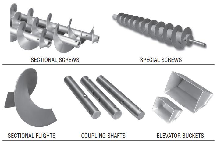 01-Sectional-Flights-Screw-Conveyor-Sectional-Screws-Special-Screws-Coupling-Shafts-Elevator-Buckets