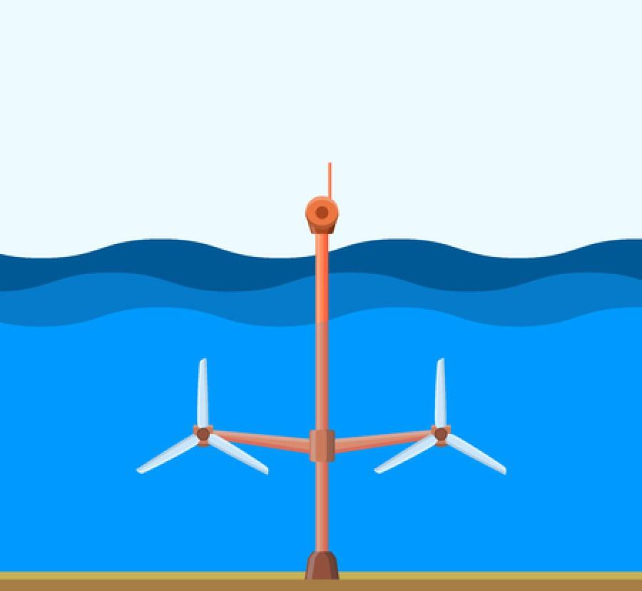 Underwater Tidal Power Plant - Clean Energy Fuel