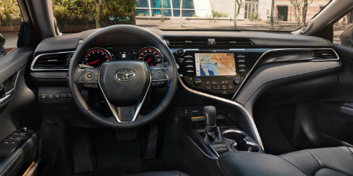 all new camry interior kelebihan grand avanza veloz 2018 toyota recommended oil type by engine with touchscreen interface prominent