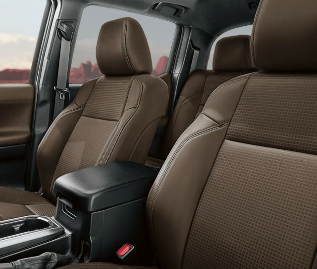 Side View Of The  Toyota Tacomas Front Seats