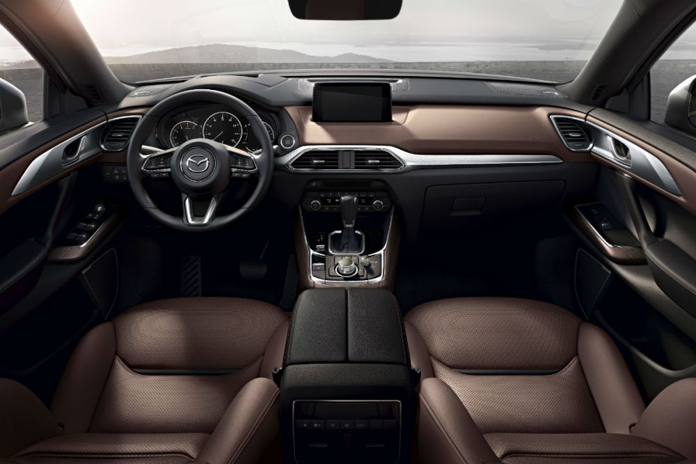 medium resolution of driver s cockpit of the 2019 mazda cx 9
