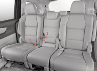 2016 Honda Pilot With 2nd Row Captains Chairs