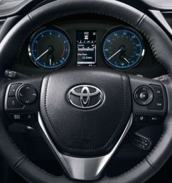 steering wheel and driver info display of the 2018 toyota corolla [ 1175 x 783 Pixel ]