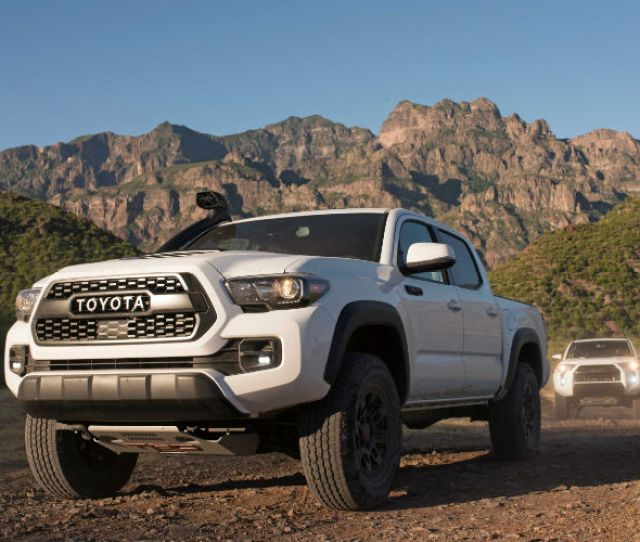 Toyota Tacoma Front End And Side View In White