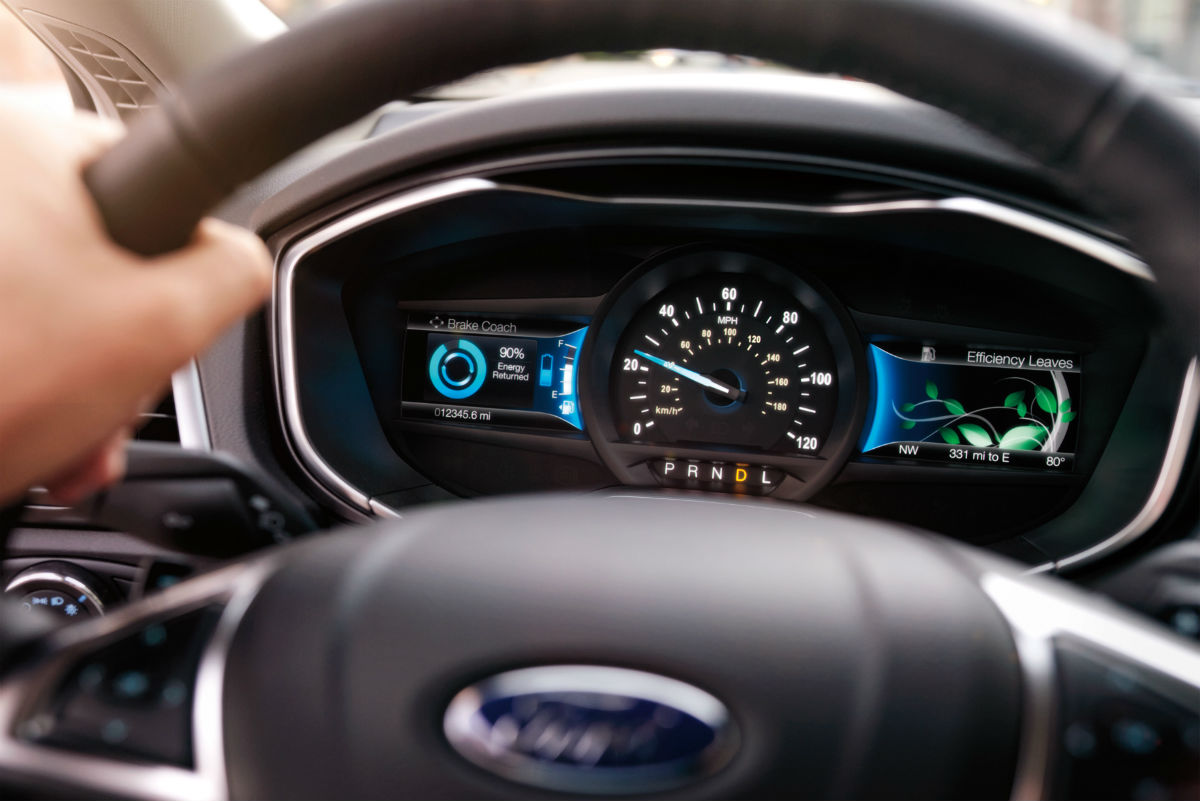 hight resolution of  driver dash in a 2019 ford fusion hybrid