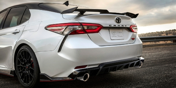 toyota yaris trd exhaust all new 2018 camry release date 2020 trim level and design specs white black rear exterior spoiler