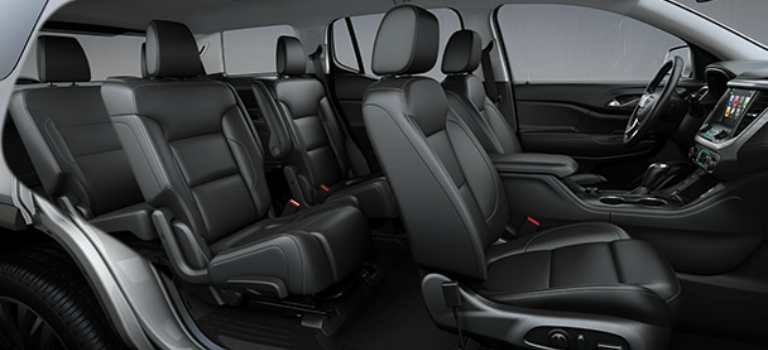 captain chairs suv amish 3 in 1 highchair seating capacity of the 2018 gmc acadia can be equipped with second row s