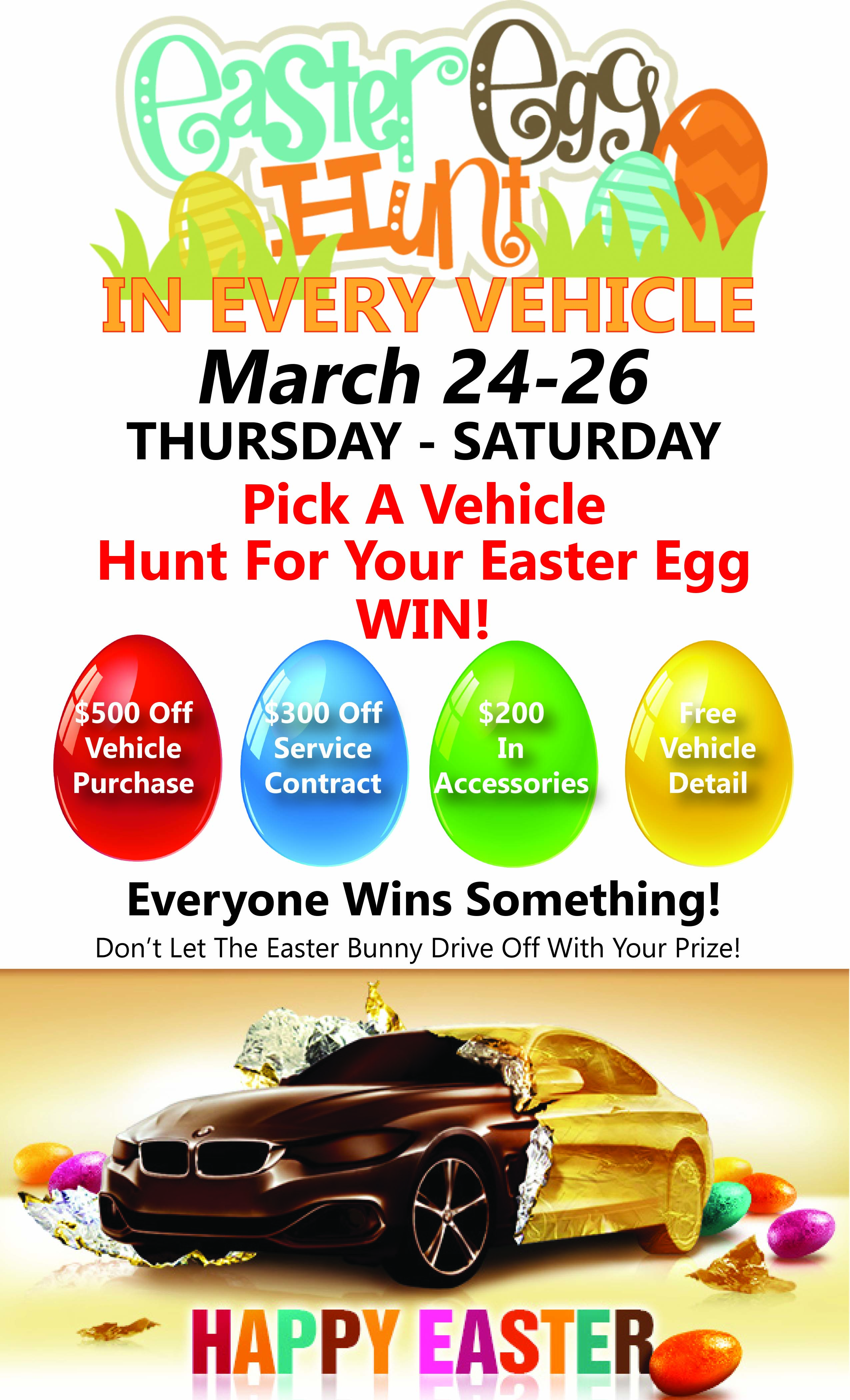 EASTER EGG HUNT - Beach Auto Brokers