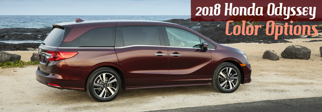 Test drive a new odyssey today! Exterior And Interior 2018 Honda Odyssey Color Options