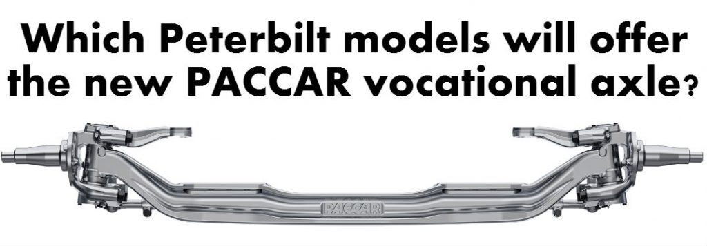 Which Peterbilt models will offer the new PACCAR
