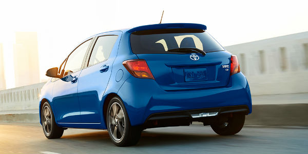 toyota yaris 2017 trd parts grand new veloz 1.5 a/t which models are available with a manual transmission rear of blue five door se