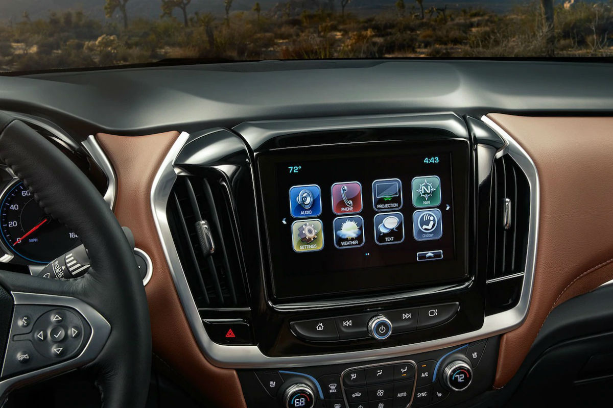 hight resolution of touchscreen display of the 2018 chevy traverse