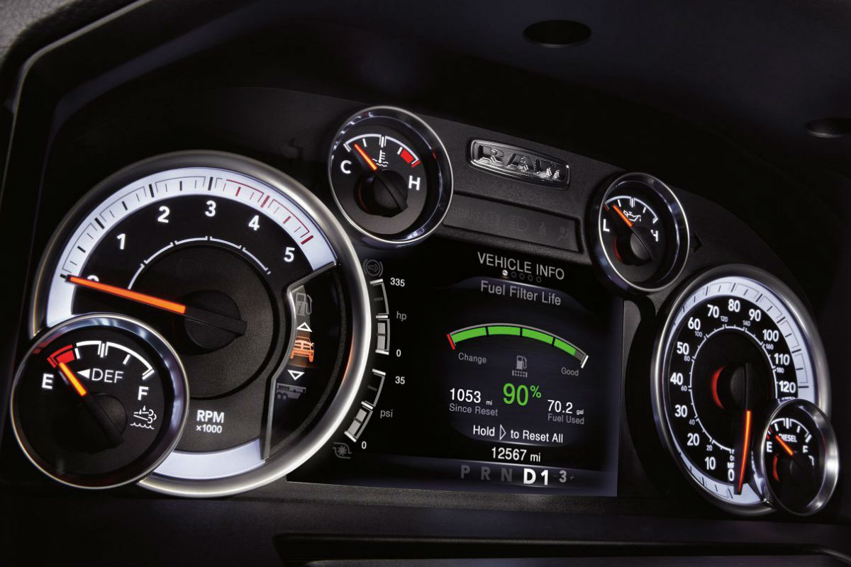 hight resolution of instrument cluster of the 2018 ram 2500