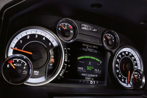 small resolution of instrument cluster of the 2018 ram 2500
