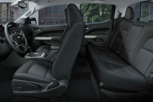 small resolution of side view of the two rows of seating in the 2019 chevy colorado