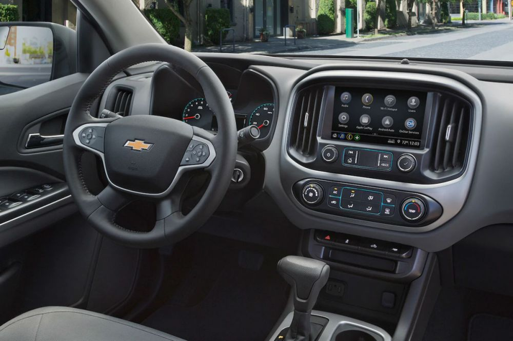 medium resolution of driver s cockpit of the 2019 chevy colorado