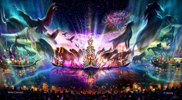 All-new entertainment experiences, including a new nighttime spectacular, are among the exciting projects coming in the years ahead as DisneyÕs Animal Kingdom begins the largest expansion in park history. ÒRivers of LightÓ promises to be an innovative show unlike anything ever seen in Disney Parks, combining live music, floating lanterns, water screens and swirling animal imagery. The show will magically come to life on the broad, natural stage of the Discovery River, between Discovery Island and Expedition Everest. (Disney)