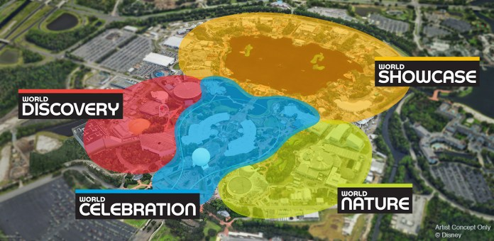 Four Neighborhoods Named for Epcot Overhaul: World Nature ... on mgm studios map, columbus zoo and aquarium map, kennywood map, epcot map, disneyland map, old town map, disney map, universal map, wekiwa springs state park map, busch gardens map, hollywood studios map, dollywood map, hersheypark map, magic kingdom map, aquatica map, holy land experience map, kennedy space center map, adventure island map, animal kingdom map,