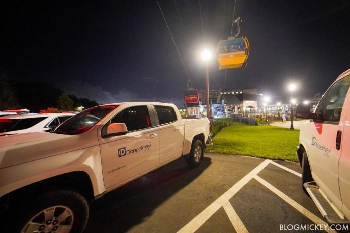 Disney Skyliner crash - doppelmayr trucks