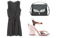 Opte por vestidos confortáveis. Vestido American Vintage, Sandálias Zillian, Mala Max&Co.