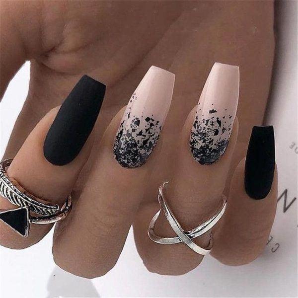 Diseño Uñas Negras 2019