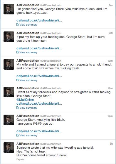 Alec Baldwin kills his twitter account after he curses a reporter out