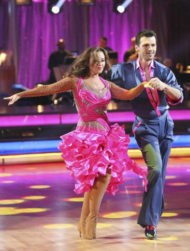 Leah Remini on Dancing with the Stars with Tony Dovolani.