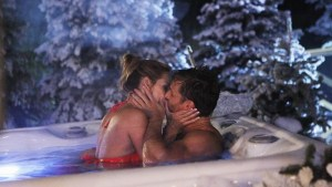Juan Pablo and Clare Kissing in the Hot Tub
