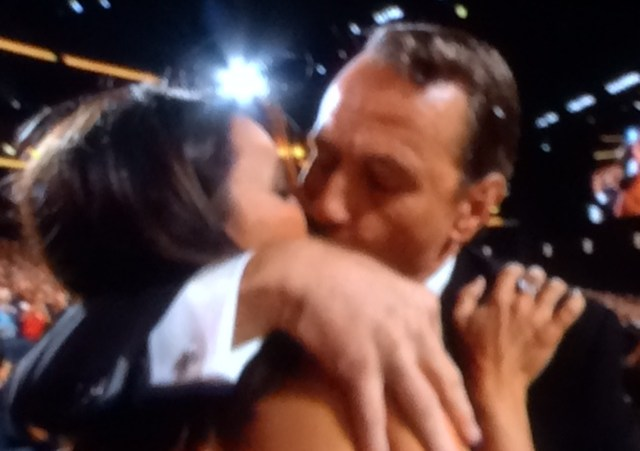 Bryan Cranston kisses Julia