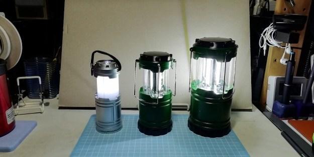 LEDランタンの比較。