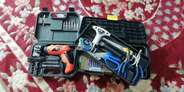 手持ちの工具類も入れてみました。