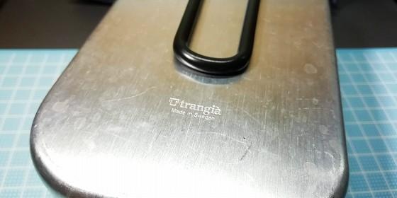 トランギアのロゴが刻印されています。