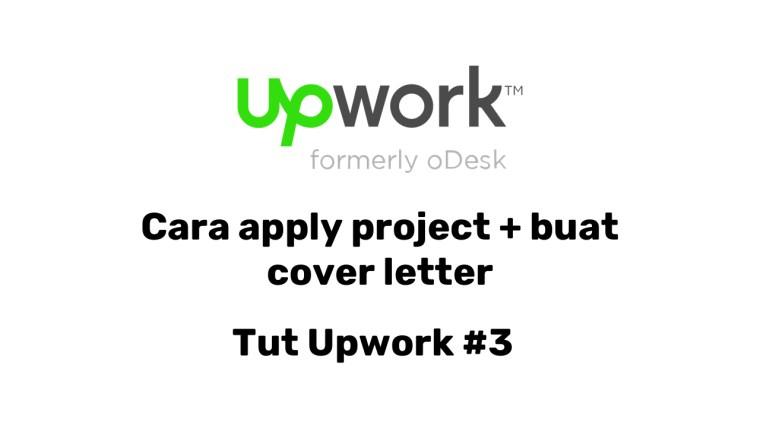 Cara apply project di upwork