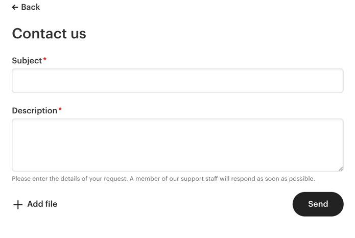 Kontak Etsy Support