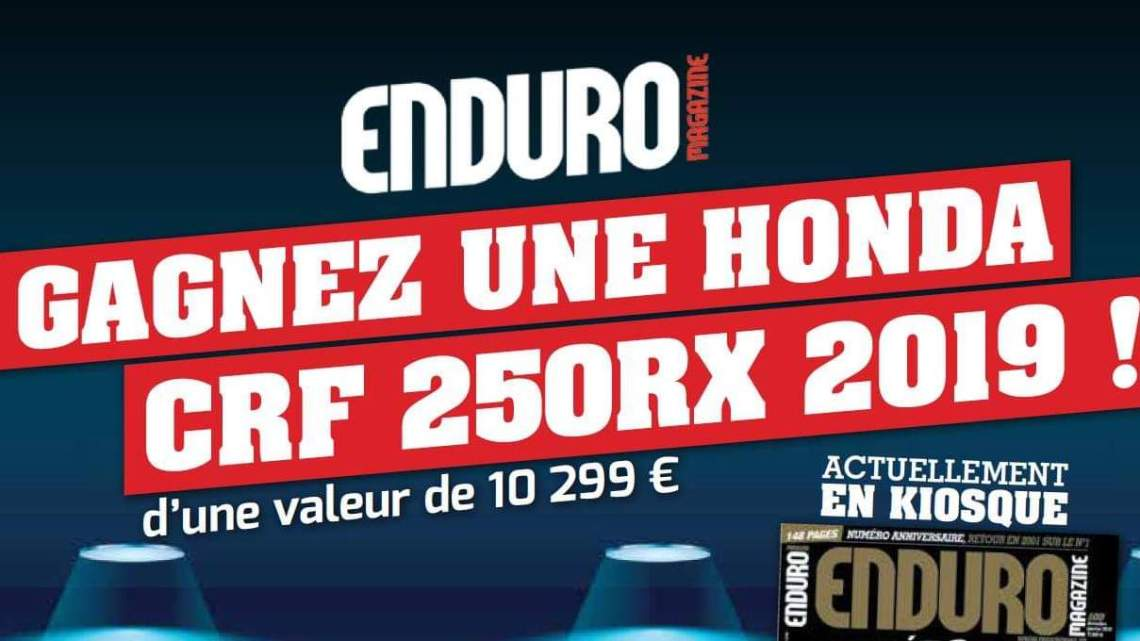 Gagne une Moto Cross avec Enduro Magazine