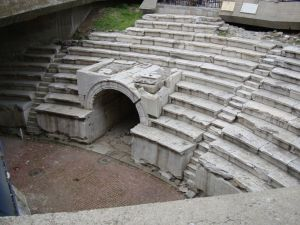 Пловдив. Раскопки античного стадиона.