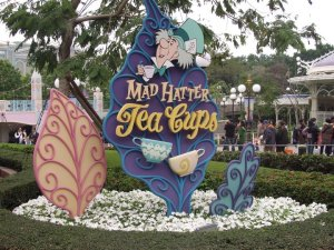 Mad hatters teacups sign