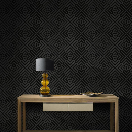 modern black pattern wallpaper