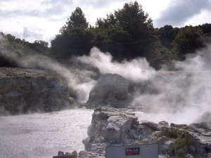 smoking mud at hells gate Rotorua