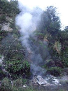 sulphur smoke rising