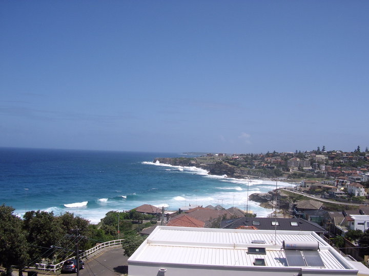 VIEW OF TAMARAMA BEACH SYDNEY FROM YHA HOSTEL