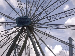 close up of big wheel, Sydney