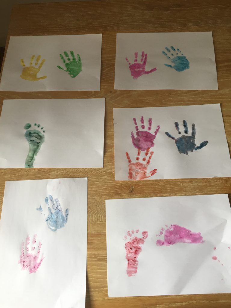 FINISHED HAND AND FOOT PRINTS